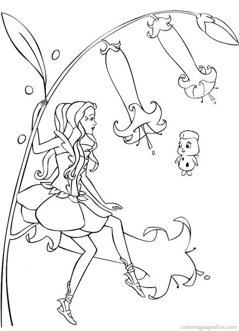 Barbie Fairytopia Coloring Pages Realistic | color fun | Pinterest ...