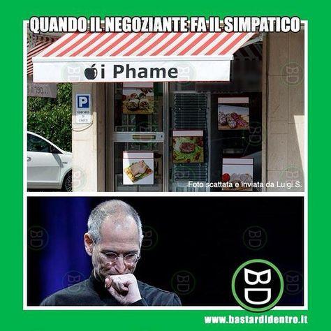 Il #negoziante che fa il simpatico #bastardidentro #iphone…