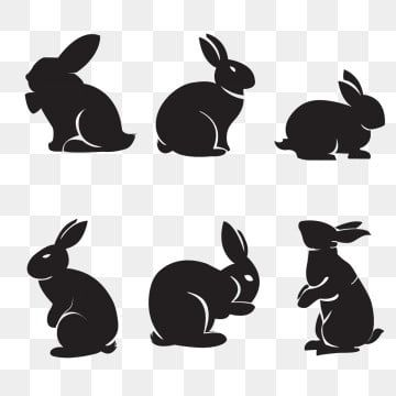 Rabbit Silhouette Shadow Clipart Bunny Easter Png And Vector With Transparent Background For Free Download Rabbit Silhouette Rabbit Illustration Bunny Silhouette
