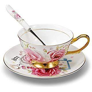 Panbado Tasse à Thé Anglais Tasse à Café 200ml En Porcelaine à La