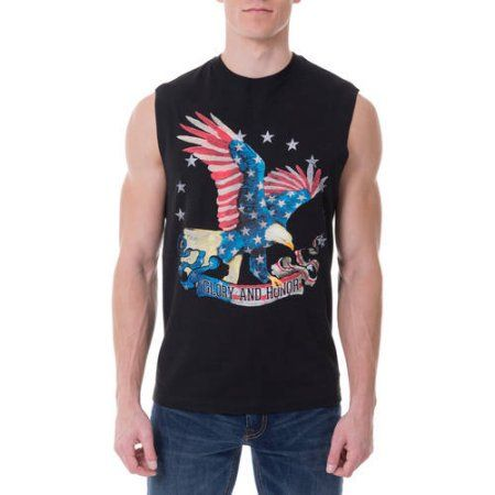 Faded Glory Big Men S Americana Graphic Tank Top Size 3xl Black Products Tops Tank Tops Big Men