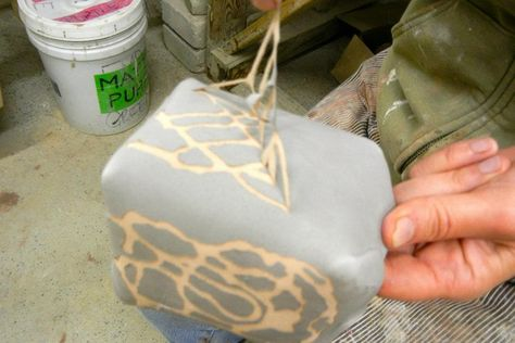 Fine Mess Pottery: A Sticky Business Using Elmer's Glue as a wax resist
