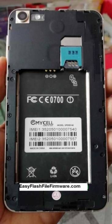 Mycell Spider A8 Flash File Firmware MT6580 Download