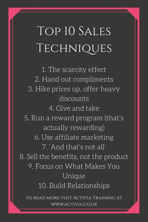 Top 10 Sales Techniques