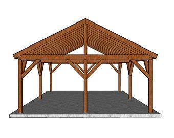 16x20 Backyard Pavilion Plans In 2021 Pavilion Plans Outdoor Pavilion Timber Frame Plans