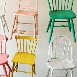 Come rinnovare sedie in legno. Idee e colori | Sedia legno