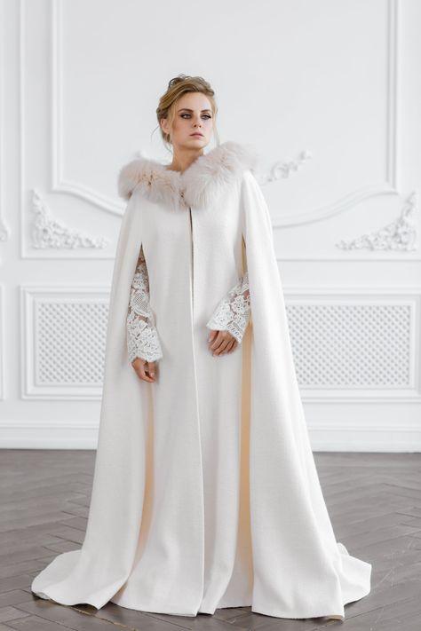 Hooded Bridal Coat