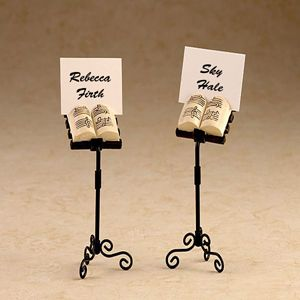 our music stand place card holder wedding favors are a favorite among our music loving couples