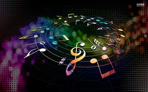 Image For Colorful Music Notes Hd Wallpapers In 2019 Music