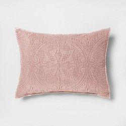 Cashmere Blend Quilted Pillow Sham Casaluna Medallion Pillow Quilted Pillow Shams Pillow Shams
