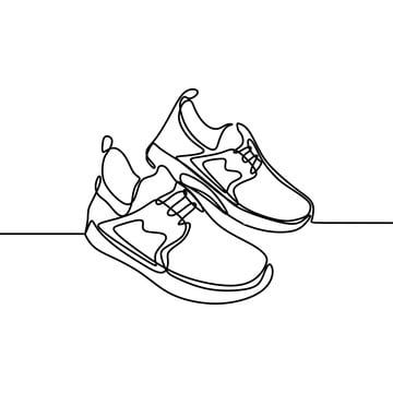 Continuous One Line Drawing Of Shoes Minimalist Design Vector Illustration Minimalism Style Clipart Drawing Drawing White Png And Vector With Transparent Bac Line Art Vector Line Drawing Vector Illustration