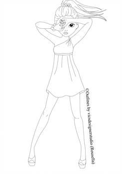 Topmodel Spring Outline By Vicsdesignerstudio On Deviantart Model Drawing Top Model Fashion Drawings