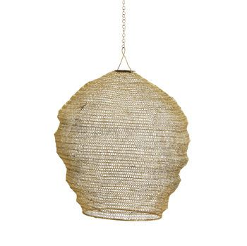Gold Knitted Wire Lampshade By Posh Totty Designs Interiors Wire Lampshade Pendant Lamp Shade Pendant Light