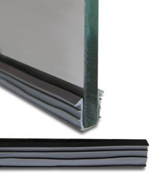 Gray 1 4 Glass Glazing Vinyl For Deluxe Pass Thru Glass Shoe Foot Door Glass Design Steel Frame Doors Steel Doors And Windows