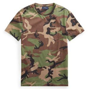 T Shirt,Camo,Classic American Woodland S-XXL Custom Baseball Short Sleeves