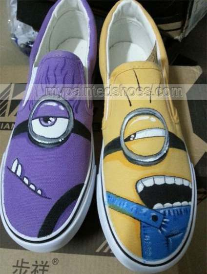 minion vans shoes Despicable Me Unicorn Custom Painted Shoes van