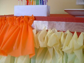 Captivating How To Make A Ruffled Tablecloth Out Of Plastic Tablecloths...just What  Iu0027ve Been Looking For! | Art And Craft Birthday Party | Pinterest | Plastic  ...