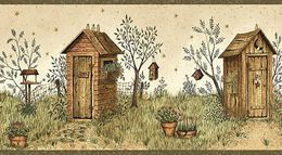 Justborders Com Bathroom Outhouse Wallpaper Border Wallpaper Border
