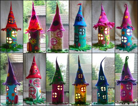 Felted Fairy Lamp - #TableDeskLamps #Bedside, #Colored, #Handmade, #Night, #Recycled, #Vintage, #Wool (source: idlights.com)