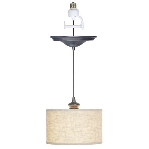 Worth Home Products Instant 1 Light Drum Pendant