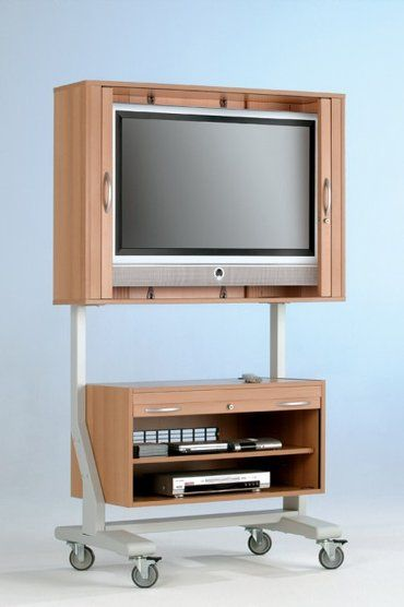 Design Tv Meubel Verrijdbaar.Tv Meubel Verrijdbaar Incl 4 Wielen Frame Grijs Meubel In Beuken