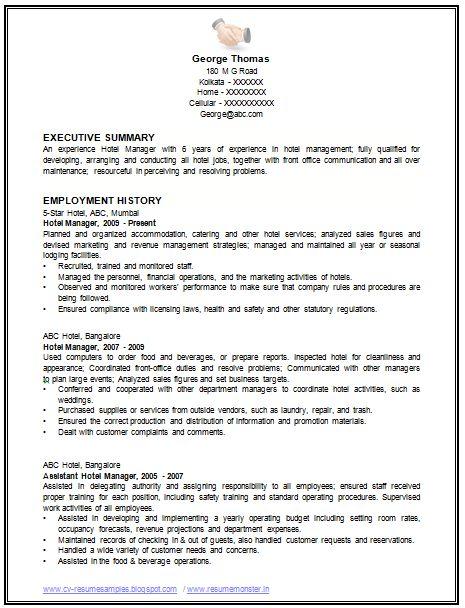 Standard Resume Examples Cover Letter Best Examples Of Resume - standard resume examples