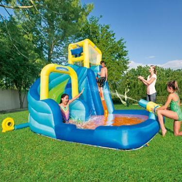 H2ogo Hydrostorm Splash Kids Inflatable Slide Water Park Academy Inflatable Water Slide Inflatable Slide Water Park