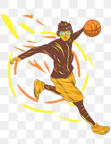 Hand Painted Basketball Sports Game Recruitment Order Character Illustration Hand Painted Png Transparent Clipart Image And Psd File For Free Download