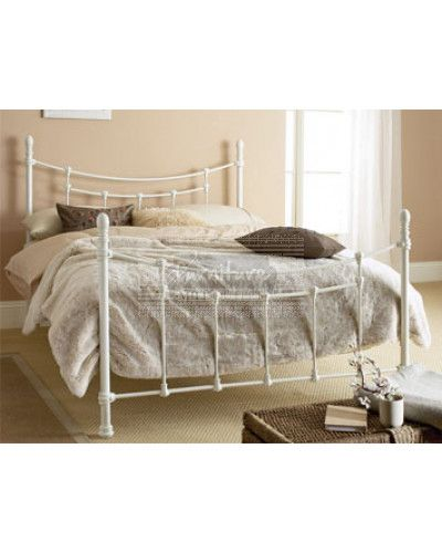Tuscany Metal Bed Frame Ivory Furniture Mill Outlet Bedroom
