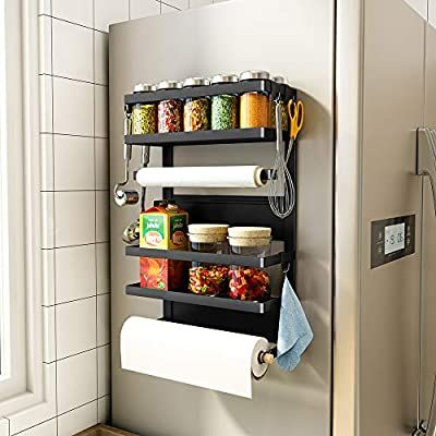 Amazon Com Sntd Magnetic Shelf Organizer Paper Towel Holder