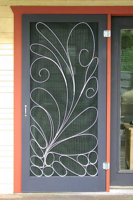 Image Result For Mid Century Modern Security Screen Door Metal Screen Doors Screen Door Metal Screen