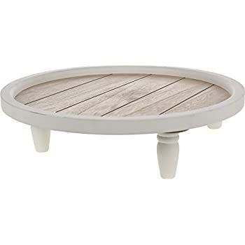 Home Collection Deko Tablett 38 cm Holztablett Kerzentablett