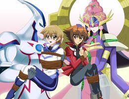 Ygo Gx Fianceshipping Double Rescue By Sincity2100 Anime Wolf Girl Anime Yugioh Yami