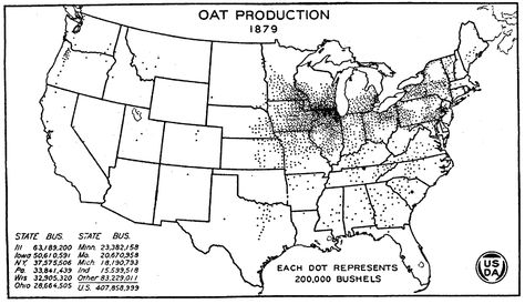 1879) Oat Production in the US | (1865-1900) Gilded Age ...