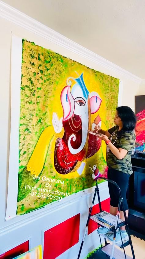 Jai ganesha painting progress video