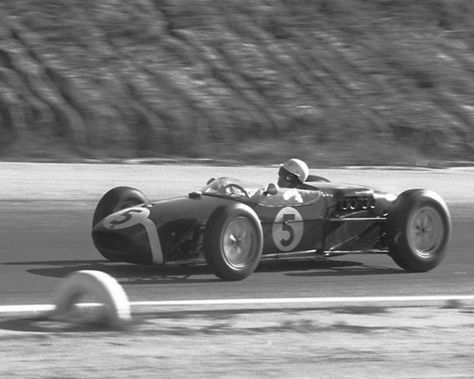 Stirling Moss at the United States Grand Prix West at Riverside on November 12, 1960. (Photo: Allen Kuhn)