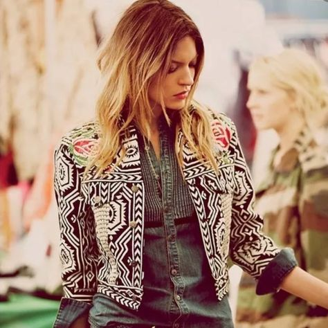 Free People FP New Romantics Geometric Embroidered Jacket from Free People. Shop more products from Free People on Wanelo.