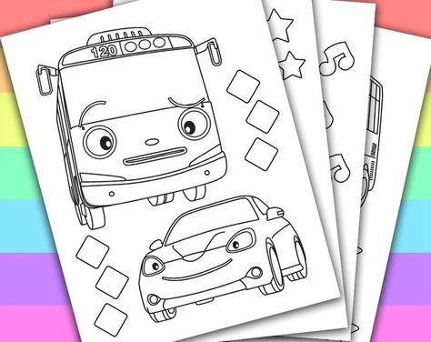 List Of Pinterest Tayo The Little Bus Coloring Ideas Tayo The