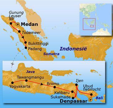 Route Sumatra Java En Bali 30 Dagen Bukittinggi Indonesie Ubud