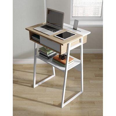 Desk Small Computer Desk With Storage Modern Minimalist Computer