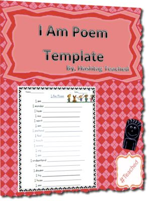 I Am Poem Worksheet Template from Hashtagteached from Hashtagteached ...