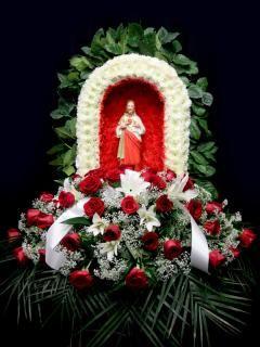 Sacred Heart Of Jesus Same Day Flower Delivery Flower Arrangements Flower Delivery