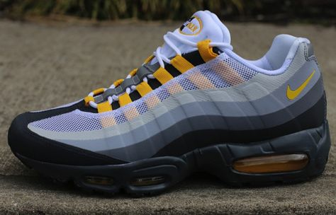 I have every color this is o e of my favorite sneakers besides jordans   Air  Max 95 No Sew Varsity Maize e4e4b5c95