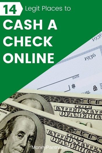 14 Easy Ways To Cash A Check Online Instant Check Cashing In 2020 Best Money Saving Tips Learn Blogging Personal Finance Bloggers
