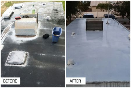 Rv Roofing Materials Benefits Of An Ideal Roof Sealant Liquid Roof Roof Sealant Roof Repair