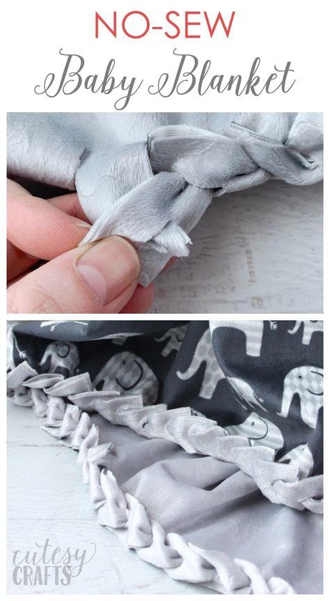 Wie man eine No-Sew Babydecke mit Minky Stoff macht Informations About How to Make a No-Sew Baby Blanket with Minky Fabric – Cutesy Crafts Pin You can easily use my … How To Sew Baby Blanket, No Sew Fleece Blanket, No Sew Blankets, Knot Blanket, Fleece Tie Blankets, Easy Baby Blanket, Minky Baby Blanket, Blanket Crochet, Tissu Minky