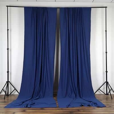 Pack Of 2 5ftx10ft Navy Blue Fire Retardant Polyester Curtain Panel Backdrops With Rod Pockets Colorful Curtains Shabby Chic Curtains Door Curtains Diy