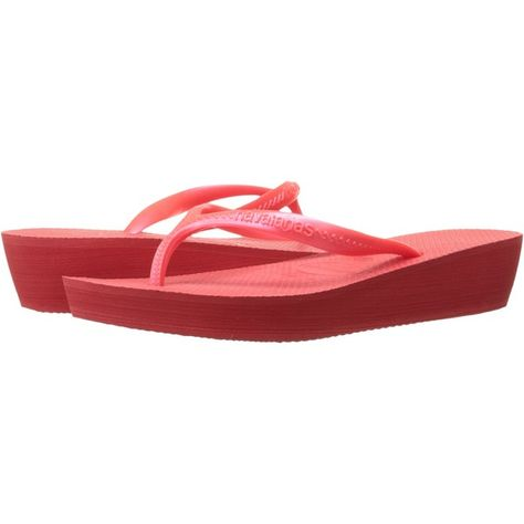 462dd82095e9 Havaianas High Light Flip Flops (Coral New) Women s Sandals ( 20) ❤ liked  on Polyvore featuring shoes