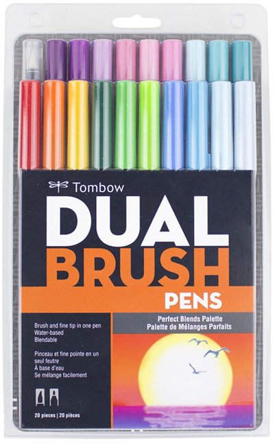 Tombow Dual Brush Pen Art Markers Perfect Blends 20 Pack