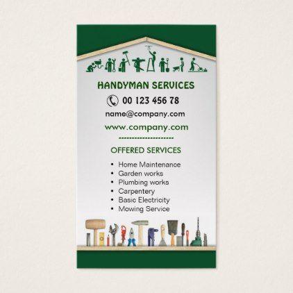 Handyman Services Home Maintenance Business Card Zazzle Com In 2020 Handyman Services Home Maintenance Handyman